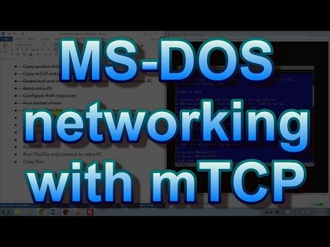 MS-DOS networking with mTCP