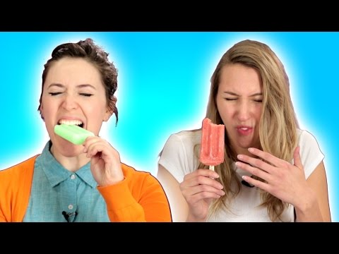 People Bite Ice Pops With Their Front Teeth