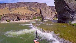 Fishing Beautiful Waterfalls for Bass & Sturgeon!