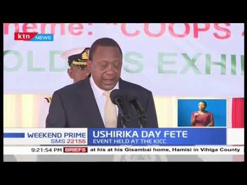 President Kenyatta leads Ushirika day fete at KICC