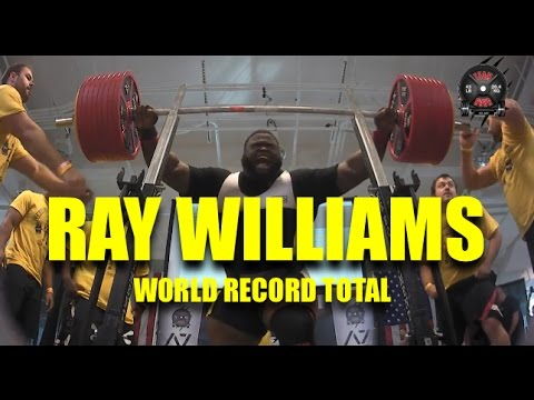 RAY WILLIAMS   WORLD RECORD TOTAL   2016 USAPL RAW NATIONALS   (10/16/2016)
