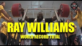 RAY WILLIAMS | WORLD RECORD TOTAL | 2016 USAPL RAW NATIONALS | (10/16/2016)