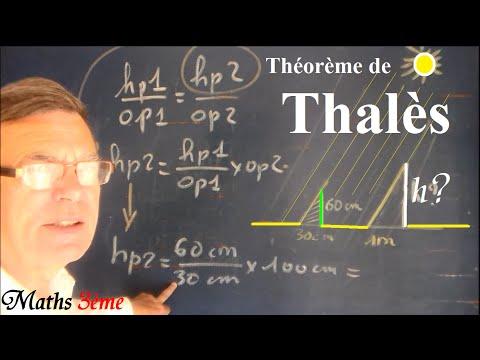 Maths 3ème : Théorème de Thalès + exercice corrigé