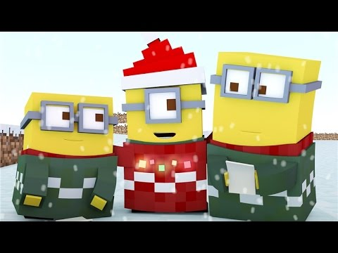 ♪ Minecraft Minions Singing Jingle Bells ♪ - ( Minecraft Animation )