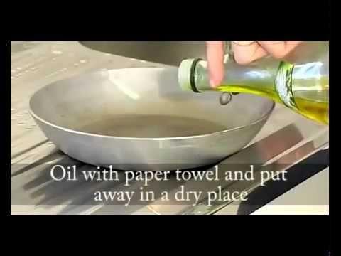 steel pan seasoning de buyer youtube. Black Bedroom Furniture Sets. Home Design Ideas