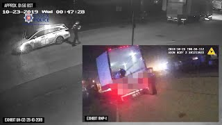 CCTV shows police arriving at scene of lorry deaths in October