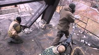 Зона АТО Эксклюзив Бой Ополченцы бьют из пулемета 19 11 Донецк War in Ukraine 2