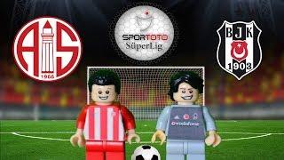 Antalyaspor Beşiktaş  Maç Özeti 1-2 (LEGO SÜPER LİG MAÇ ÖZETLERİ)/ Lego Football Goals Highlights