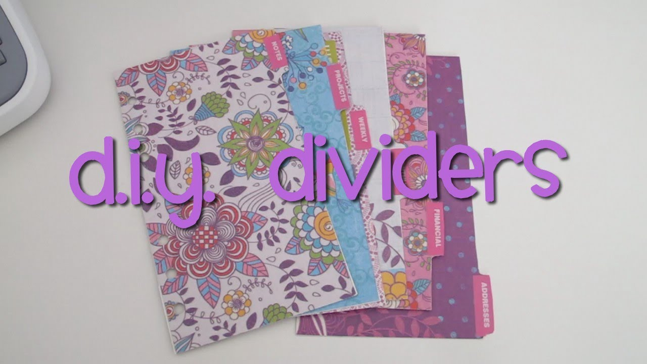 DIY Dividers for your Personal Filofax Organiser or ...