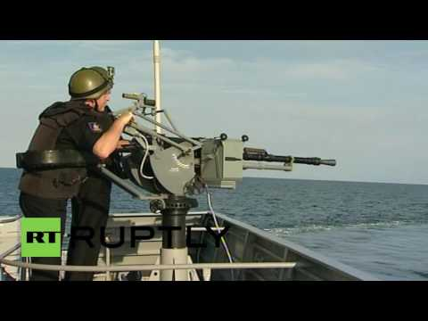 Russia: Caspian Flotilla ends five days of military drills with a bang