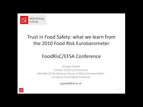 Trust in Food Safety: What European consumers tell us