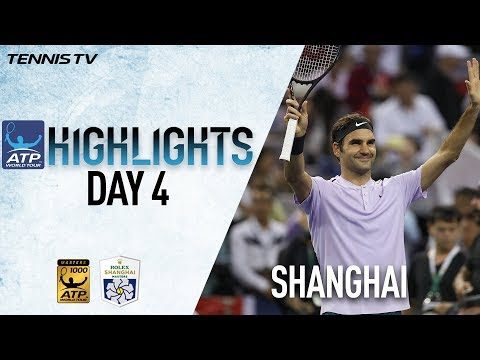 Highlights: Federer & Nadal Advance On Wednesday In Shanghai 2017