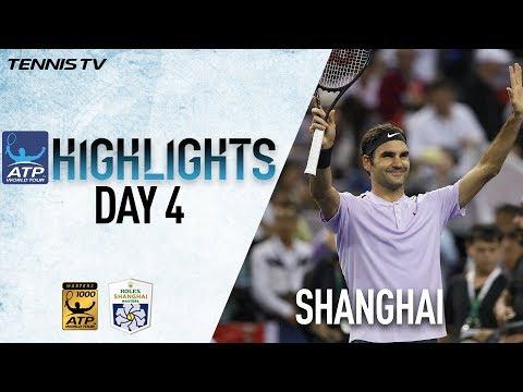 Highlights: Federer & Nadal Advance On Wednesday In Shanghai 2017