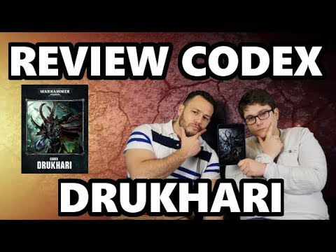 Commandeur TV - Lecture & analyse warhammer 40000 - Codex drukhari