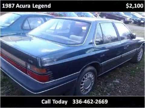 1987 acura legend used cars winston salem nc youtube. Black Bedroom Furniture Sets. Home Design Ideas