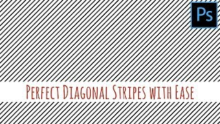Photoshop - Perfect diagonal stripes quickly and easily
