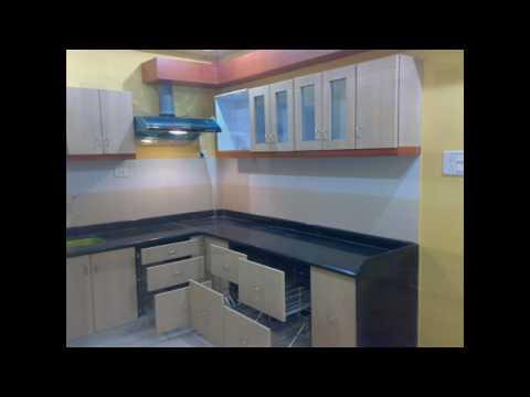 Semi modular kitchen youtube for Semi modular kitchen designs
