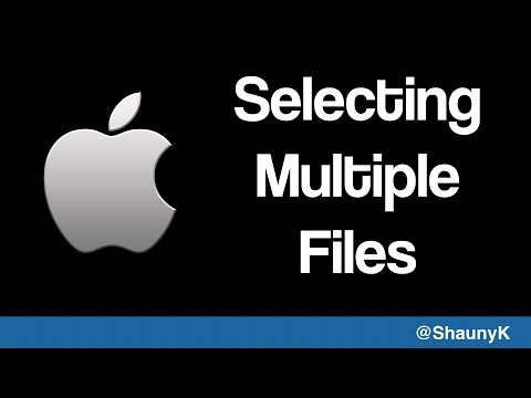 Selecting Multiple Files On An Apple Mac