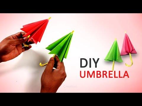 DIY Kids Rooms Decor   How to Make an Umbrella   paper umbrella -  Step by step.