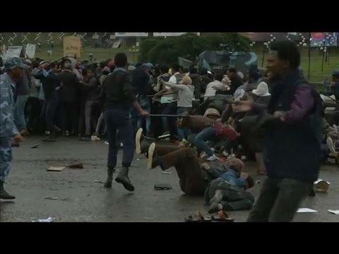 [Video] Police break up anti-government protest in Ethiopia's capital