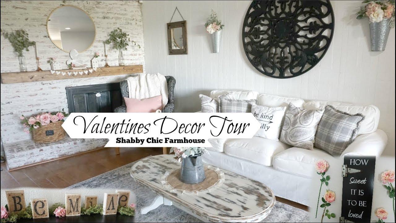 Valentines Decor Tour Shabby Chic Farmhouse Momma From