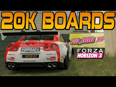 Forza Horizon 3 ALL 20K XP BOARDS LOCATION GUIDE