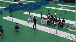1日 フェンシング男子 フルーレ個人予選トーナメント 翔陽×箕輪進修