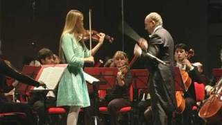 Masha Diatchenko (13 years old) plays Brahms Violin Concerto Op. 77, 3rd mov.
