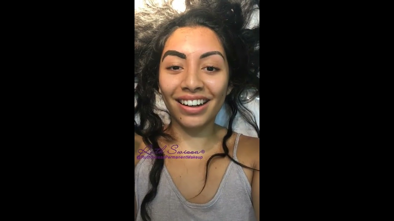 Microblading Procedure Permanent Eyebrows Reaction Video Youtube
