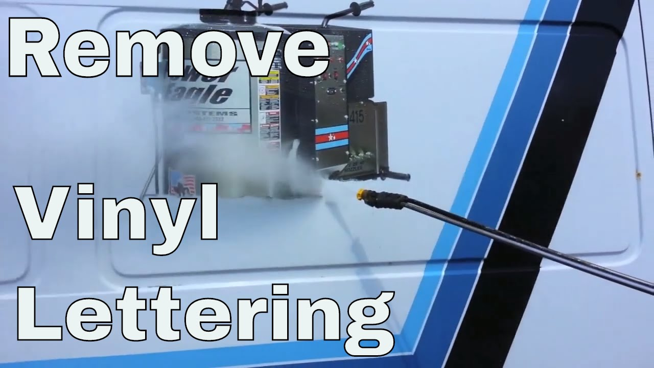 how to remove vinyl truck lettering