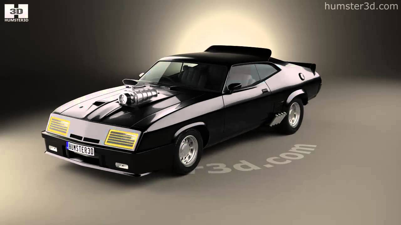 ford falcon gt coupe interceptor mad max 1979 3d model by youtube. Black Bedroom Furniture Sets. Home Design Ideas