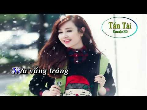 Karaoke (Em) Nửa Vầng Trăng Remix Tone Nam   Karaoke Nhạc Sống Âm Organ Đại Nghiệp
