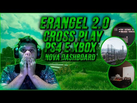 Nova erangel 2.0, Cross Play Ps4 E Xbox, Nova Dashboard Do Pubg