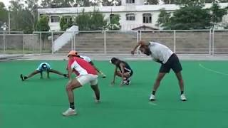 HOCKEY WARM UP (16) BY FORMER CAPTAIN  OF INDIAN HOCKEY TEAM RAJPAL SINGH AND PRABHJOT SINGH