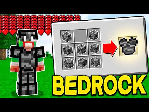 CRAFTING BEDROCK ARMOR IN MINECRAFT! *legit*