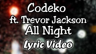Codeko ft. Trevor Jackson - All Night (Lyric Video Lyrics)