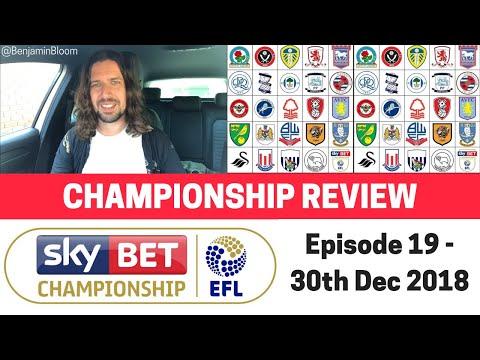 EFL Championship Review - 30th Dec 2018