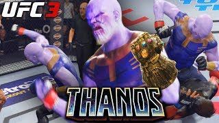 EA UFC 3 THANOS Showing Unlimited Power In THE UFC EA Sports UFC 3 Online Gameplay