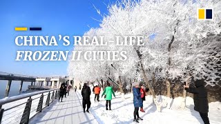 Chinese cities look like 'Frozen II' film sets after coating of winter frost