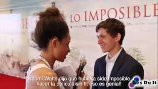 """Reportaje De La Premiere De La Película """"Lo Imposible"""" De J.A Bayona Y Con Naomi Watts"""