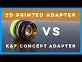 Download 3d Printed Adapter vs K&F Concept Adapter on the Sony A6000