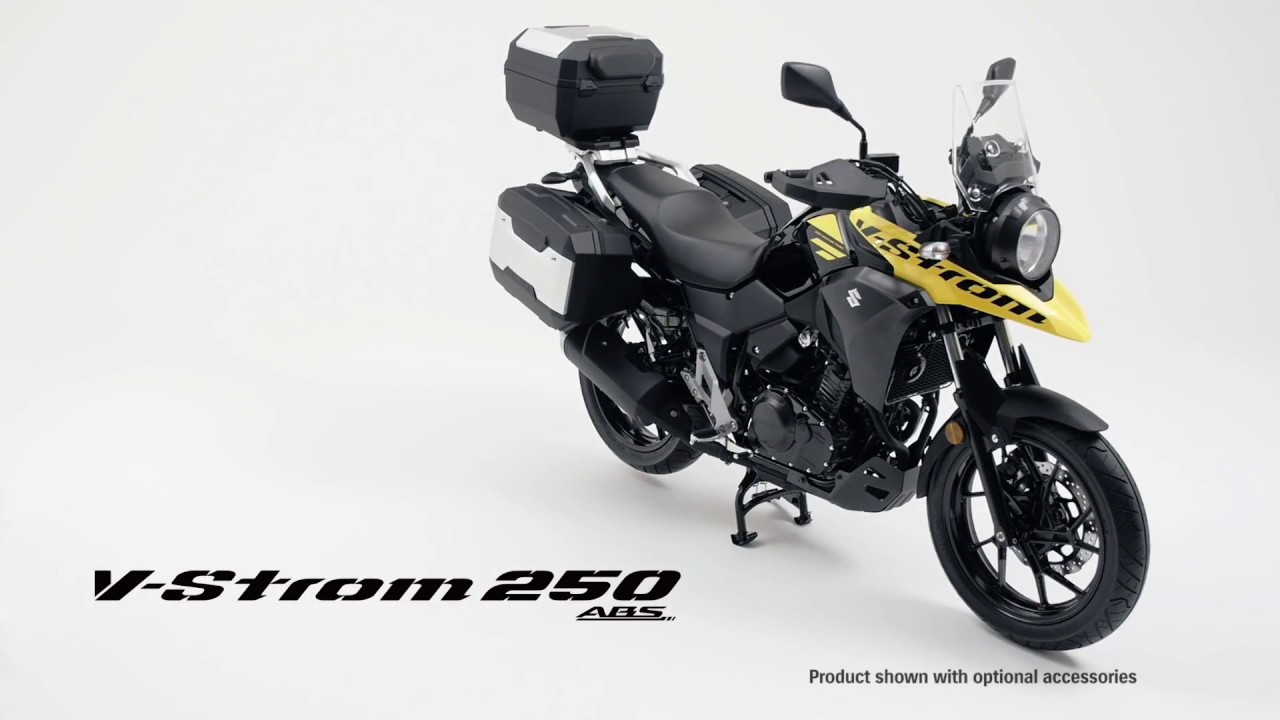 suzuki v strom 250 abs official hd video 2017 - youtube