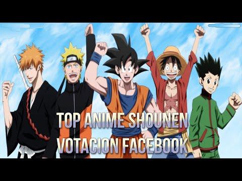 TOP ANIME SHOUNEN ( Votacion Facebook)