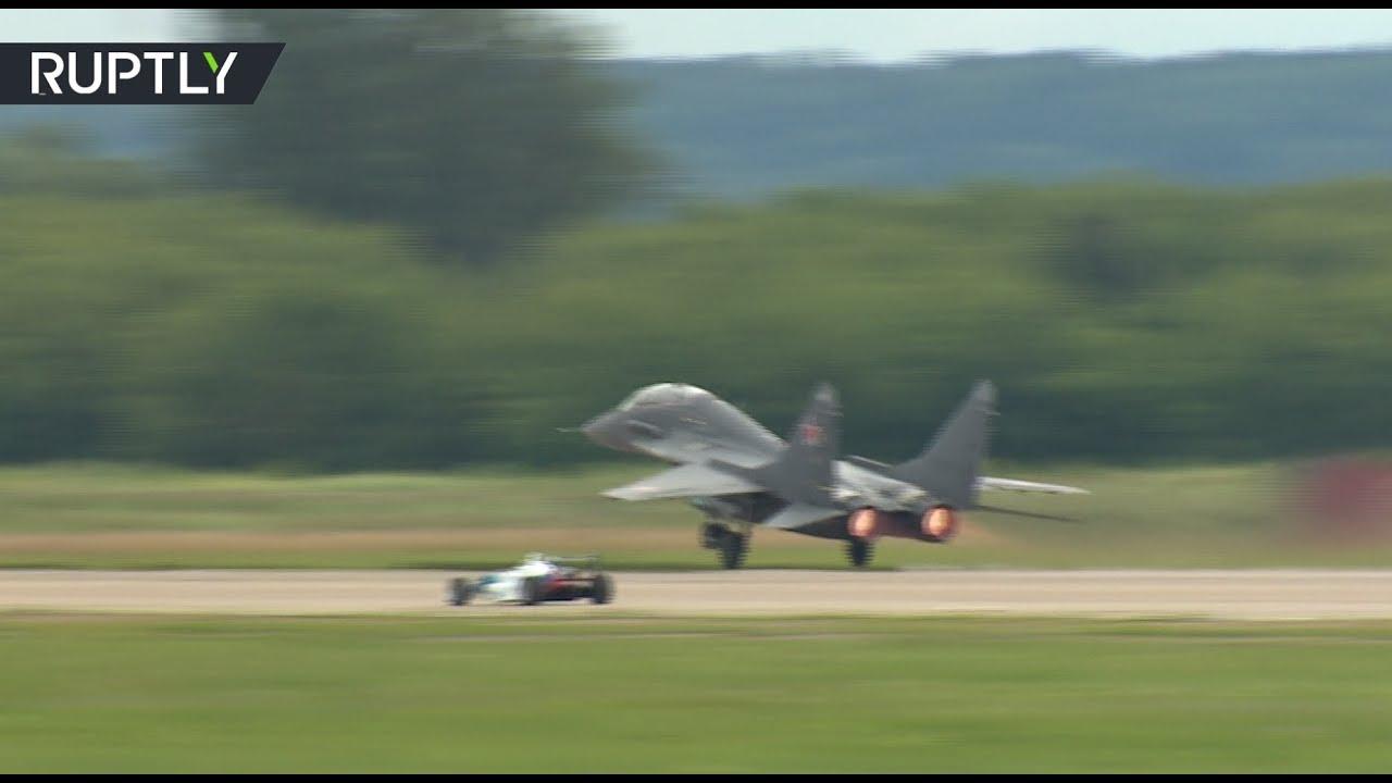 МАКС-2017: болид AUDI против истребителя МиГ-29