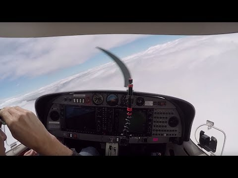DA40 IFR flying - 3 approaches! (ATC audio)