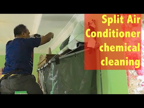 Aircond York split unit chemical cleaning (indoor unit) service part 3