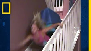 階段を滑る在宅サーファーたち  バ科学