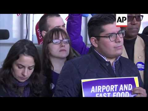 Workers at O'Hare Airport Strike Over Wages
