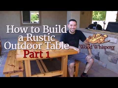 Wooden Patio Set Diy