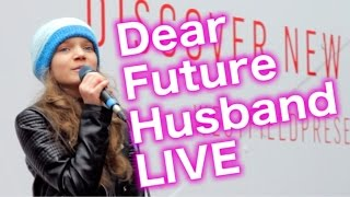 Dear Future Husband LIVE - Meghan Trainor cover by 12 year old Sapphire